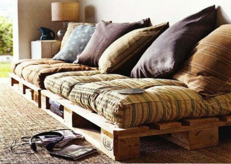 Ponte creativo y haz tu propio sofá